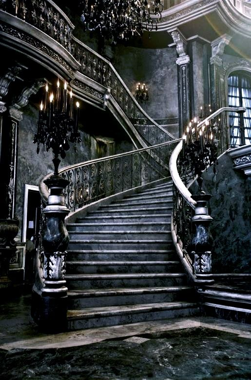 A Gothic staircase
